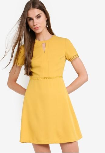 ZALORA 黃色 喇叭裙洋裝 1EAE3AACC353C8GS_1