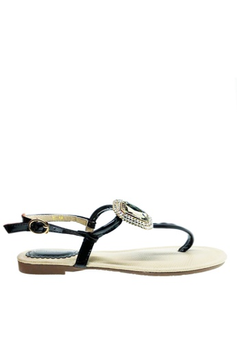 Twenty Eight Shoes black Diamond Crystal Sandal A8-128 46682SH2F8FFD7GS_1