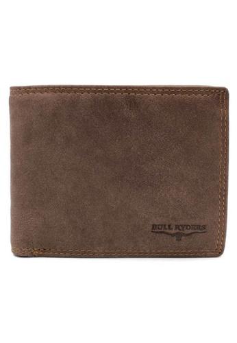 midzone brown BULL RYDERS Genuine Leather Wallet 5B54DAC7E39ECDGS_1