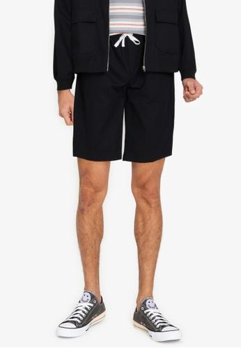 ZALORA BASICS black Deck Shorts 4FF4CAA226A46DGS_1
