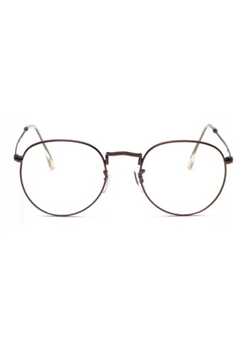 Kyfer's Eyewear & Essentials brown Semi Round Metal Eyewear KY376AC46RBDSG_1