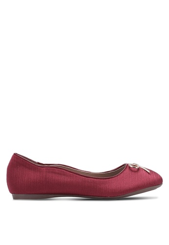 Spiffy red Shining Ribbon Ballerinas SP352SH0S6EEMY_1