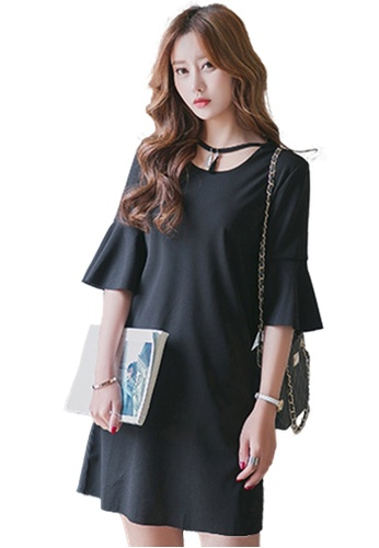 Sunnydaysweety black Elegant Cotton  One-piece Work Dress UA0712250BK A70CBAA0E21B49GS_1
