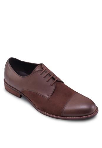 混合zalora 評價拼接布魯克牛津鞋, 鞋, 休閒皮鞋
