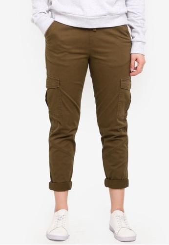 Cotton On brown Rolled Hem Chino Pants FBC51AA9C91013GS_1
