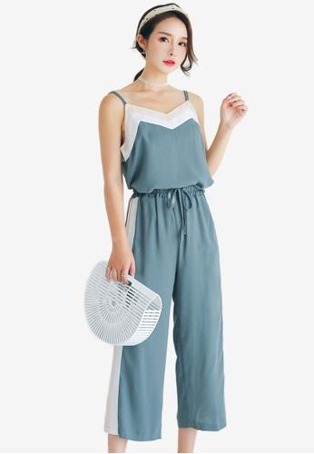 Shopsfashion blue Top And Pants Set 8A62FAA39B7306GS_1