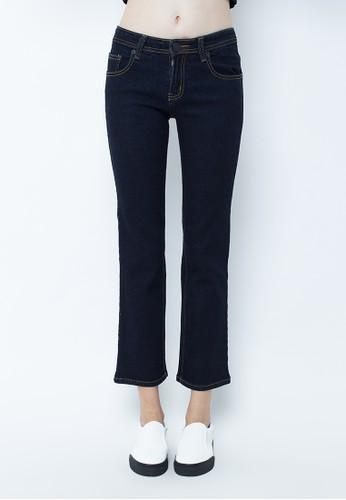Point One blue TRACY straight cut jeans PO706AA04QJJID_1