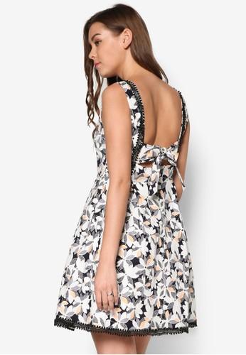 Brigget尖沙咀 esprit 印花傘擺夏日洋裝, 服飾, 洋裝