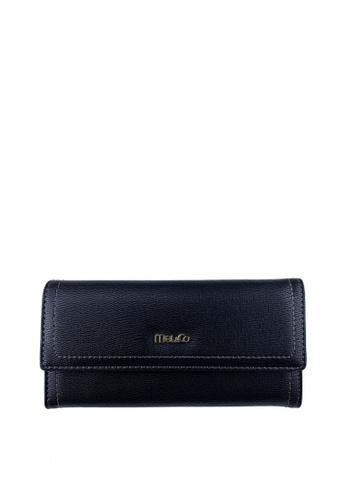 Mel&Co black Faux Leather Long Wallet C391FAC953ED6DGS_1