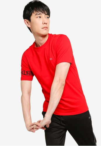 Calvin Klein red Active Icon Ho Tee - CK Performance 12A29AA979D787GS_1