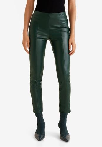 MANGO green Seam-Detail Slim-Fit Trousers FB3D0AAF488067GS_1