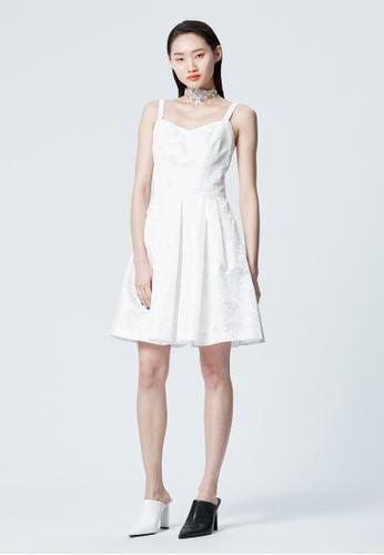 iROO white Spaghetti Strap Dress 49D62AA295E5ECGS_1