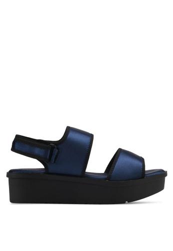 VINCCI navy Strappy Platform Sandals VI831SH0SY4DMY_1