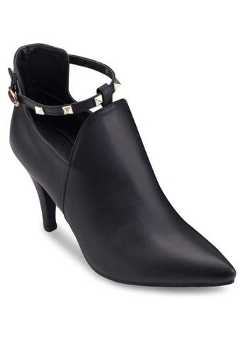 鉚釘踝帶鏤空高京站 esprit跟踝靴, 女鞋, 鞋