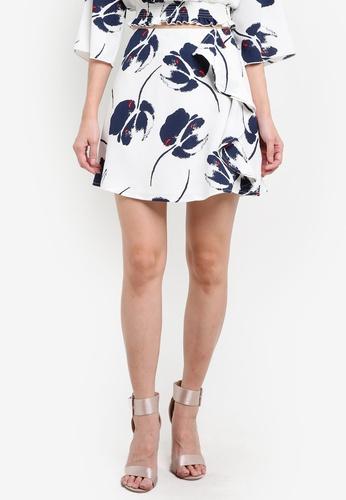 Something Borrowed multi Asymmetric Ruffle Skirt 5FAA6AA24796FEGS_1