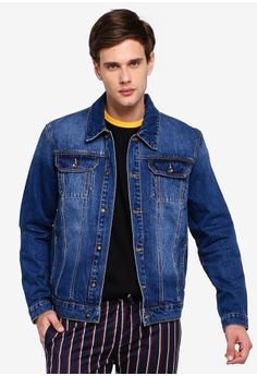 0600eb7f040c Topman blue Indigo Denim Jacket A01B1AAC5F960DGS_1