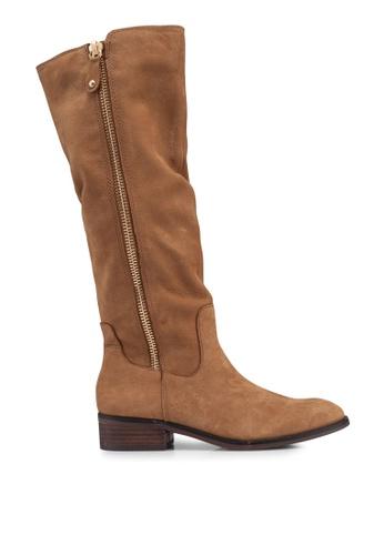 ALDO 褐色 素色高跟長靴 C15DDSH37557C4GS_1