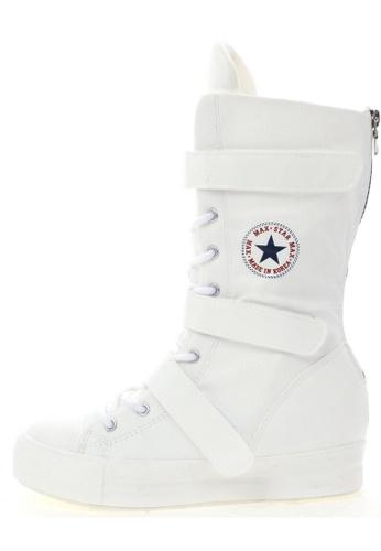 Maxstar Maxstar C2 3 Belts Hidden Heel Platform PU Sneakers Middle Boots US Women Size MA168SH66USFHK_1