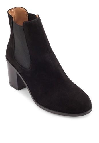 側esprit 見工彈性帶粗跟短靴, 女鞋, 鞋