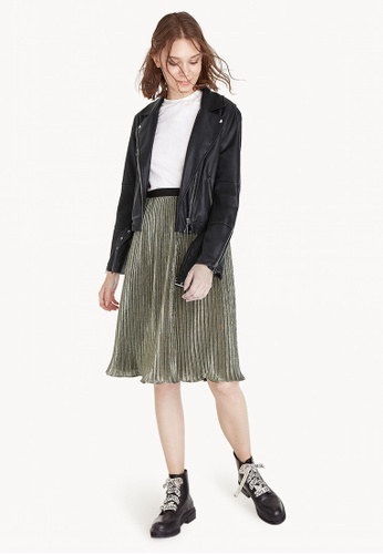 d470b34ad714 Buy Pomelo Midi Texture Pleated Skirt | ZALORA HK