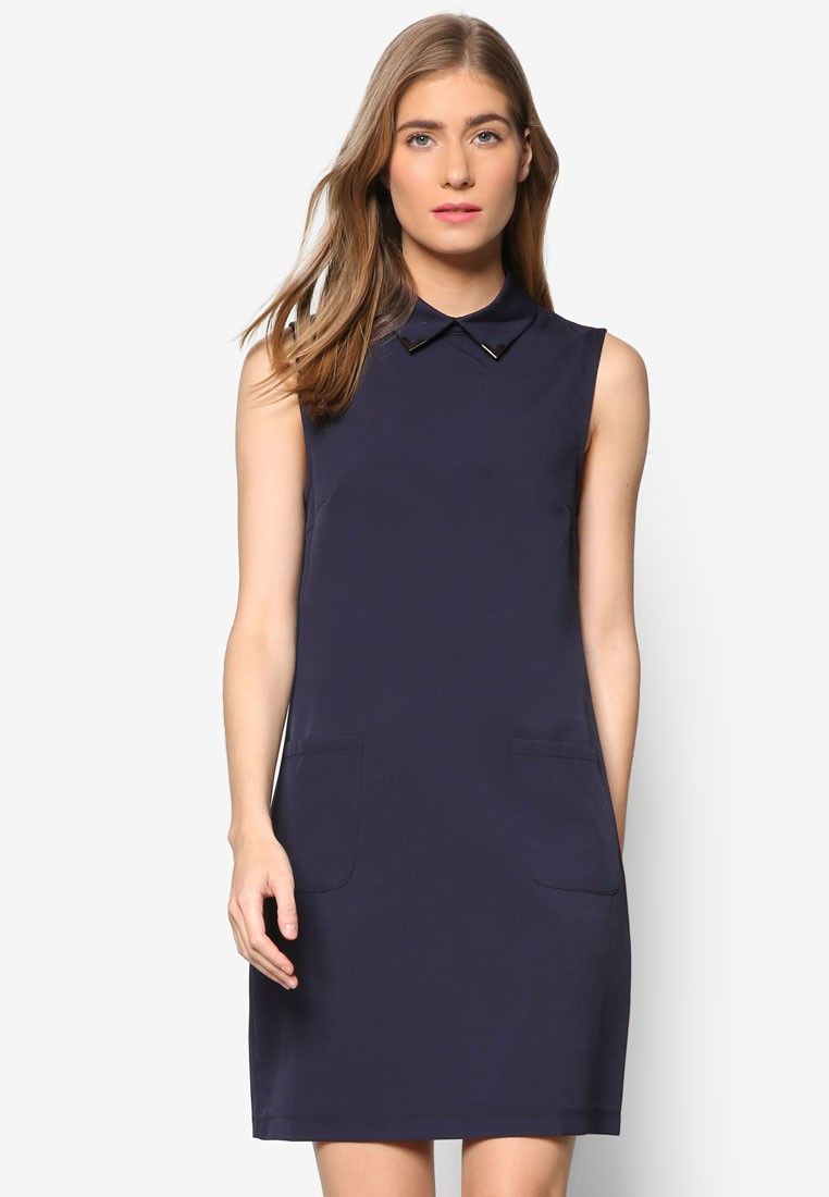 Collection Embellished Collar Shift Dress