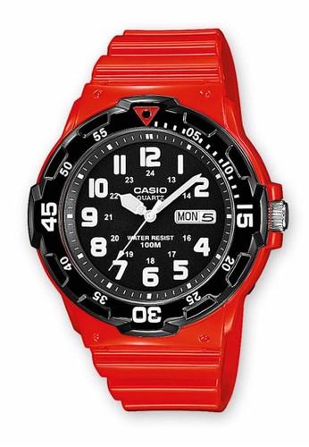 Casio red Casio Jam Tangan MRW200HC-4B Merah Hitam 306AAAC239F814GS_1