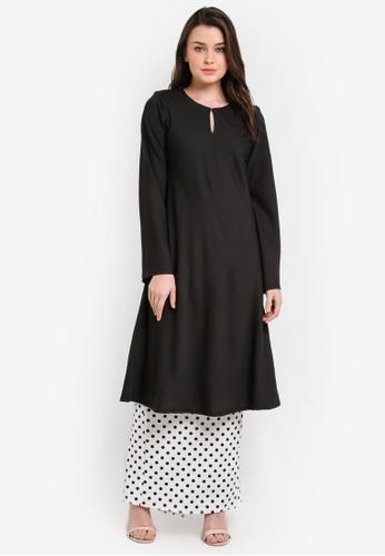Zuco Fashion black Riau Cut Mini Kurung ZU882AA0RIKHMY_1