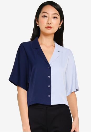 ZALORA BASICS multi Colourblock Shirt 9A575AAF8D8FACGS_1