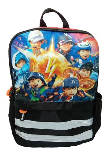 Boboiboy black and red Boboiboy Movie2 14-Inch Pre-School kids Backpack B9A52KC42B6225GS_1
