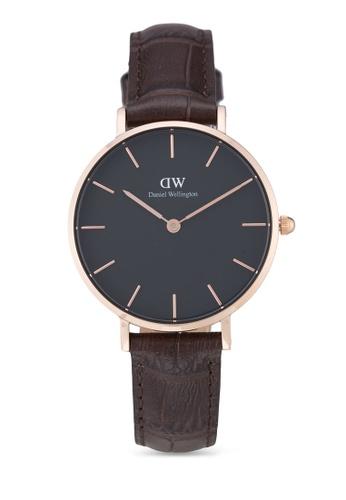 Daniel Wellington brown and gold Classic Petite York Watch DA376AC61PLQMY_1