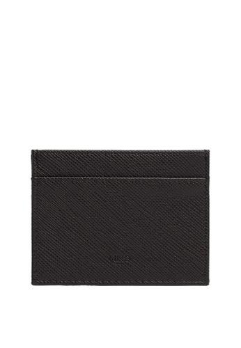 MANGO Man black Saffiano-Effect Cardholder B63FCAC14C98A8GS_1