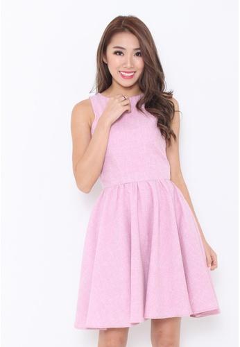 Leline Style pink Fion Flow Dress LE802AA0FV72SG_1