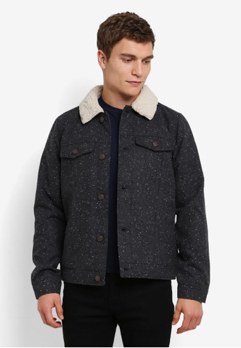 Hollister 灰色 Sherpa 有內襯 夾克 HO422AA0S3AUMY_1