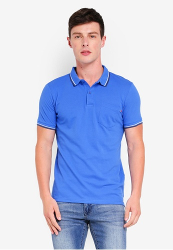 Cotton On 藍色 Icon Polo 18362AAB6DEBABGS_1
