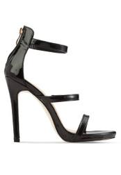 Velvet black Occasion Minimal Strappy Heels 9D64ASH8DCD920GS_1