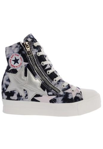 Maxstar C2 30 7 Holes Denim All White Platform High Top Sneakers MA164SH50CIFSG_1