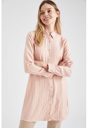 DeFacto pink Long Sleeve Viscose Tunic 091CFAA2A062F7GS_1