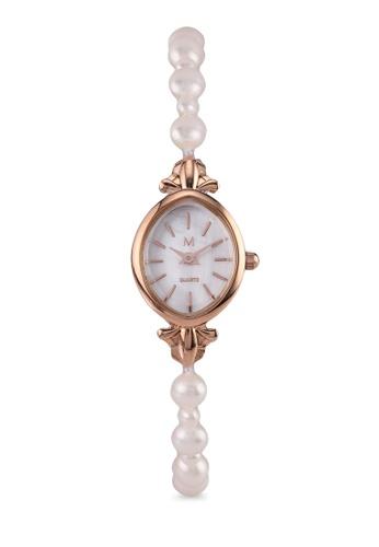 Milliot & Co. 橘色 Maryam Rose Gold Strap Watch 51B64AC0141D41GS_1