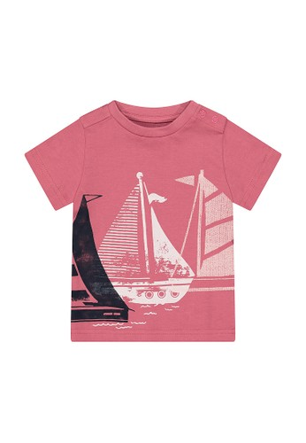 Mothercare red red boat t-shirt D8FEEKA03AF093GS_1