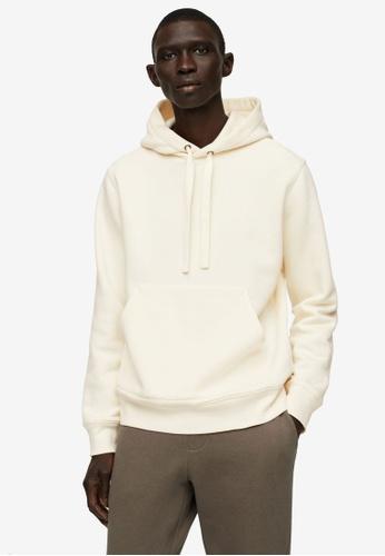 MANGO Man beige Hoodie Cotton Sweatshirt 9CFECAA5FCE518GS_1