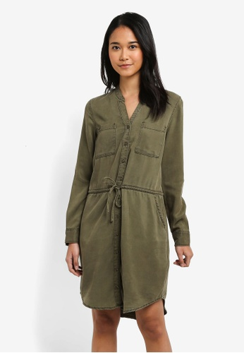 ONLY green Heather Shirt Dress FF885AAD29944FGS_1