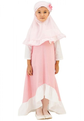 Al-Qolam Hafiz Hafizah Fashion - Dress Maryam Polkadot Pink FF065KA66BBDDAGS_1