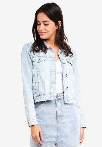 Cotton On blue Girlfriend Denim Jacket E6E7CAA0CECE45GS_1