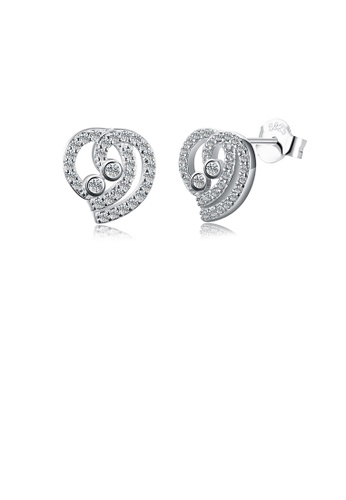 Glamorousky white 925 Sterling Silver Simple Elegant Fashion Heart Shape Earrings and Ear Studs with Cubic Zircon E8AFFACE6F85A2GS_1