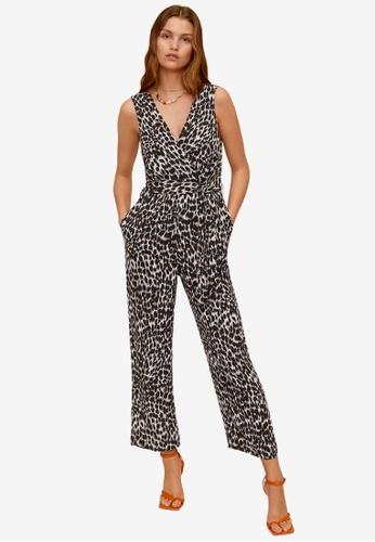Mango black Long Printed Jumpsuit E4268AAC2F2F2FGS_1
