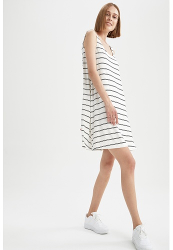 DeFacto white Sleeveless Mini Dress 589A8AAB1C1B75GS_1