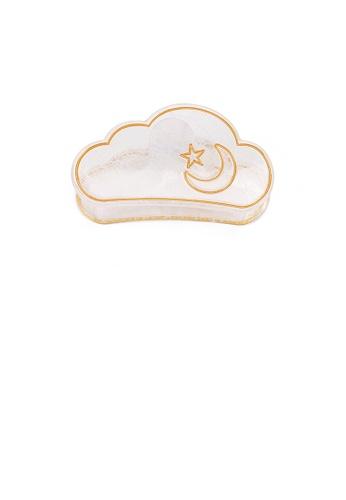 Glamorousky white Fashion Creative Star and Moon Transparent White Cloud Shape Hair Claw 42872AC15C06B8GS_1