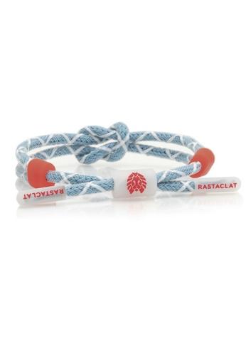 Rastaclat blue Rastaclat Knotted Bracelet: Wash Blue D01CFAC415EF6EGS_1