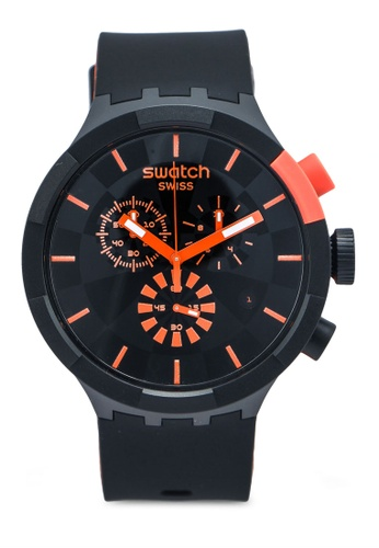Swatch black Checkpoint Red Watch 6FC6BAC07693BDGS_1