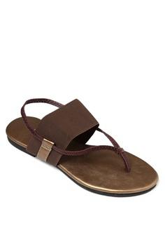 Bronze Flat Sandals
